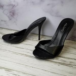 Classic high heel mule
